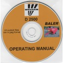 WELGER D 2500 OPERATING MANUAL ON CD