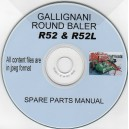 GALLIGNANI R52 BALER PARTS CATALOGE ON CD