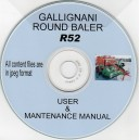 GALLIGNANI R52 BALER USER & MAINTENANCE MANUAL ON CD