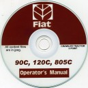 FIAT 90C, 120C, 805C 3 POINT CRAWLER TRACTOR OPERATORS MANUAL ON CD